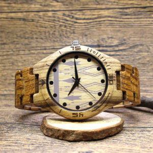 houten horloge voor dames plaatje
